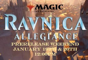 1-19-19 & 1-20-19 Ravnica Allegiance Prerelease! @ Gamers Guild