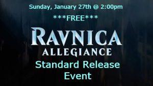 1-27-19 Ravnica Allegiance Standard Release Event @ Gamers Guild