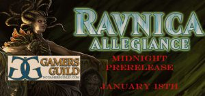 1-18-19 Ravnica Allegiance Midnight Prerelease! @ Gamers Guild
