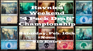 2-16-19 Ravnica Weekend 4 Pack Draft @ Gamers Guild