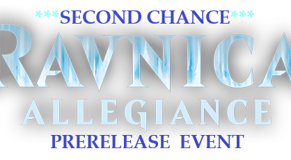Second Chance Ravnica Allegiance Prerelease this weekend!