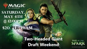 5-4-19 War of the Spark 2HG Draft Weekend @ Gamers Guild