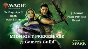 4-26-19 War of the Spark Midnight Prerelease @ Gamers Guild